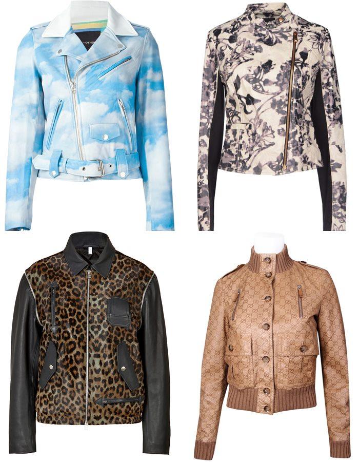 Кожаные куртки с принтом 2015