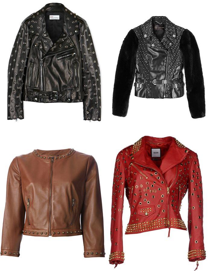 Куртки с металлическими заклепками 2015