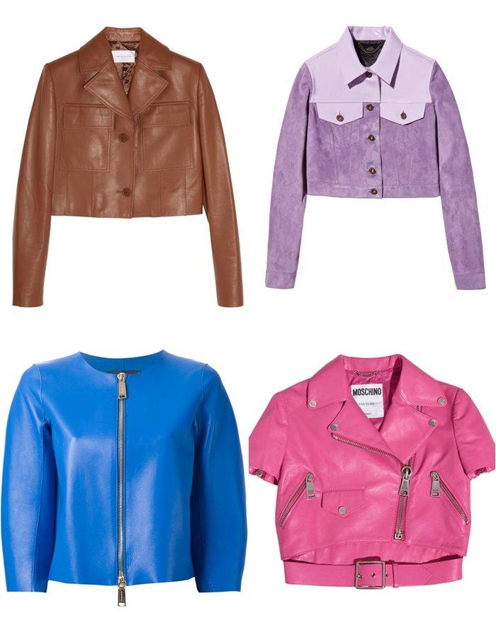 Короткие кожаные куртки 2015