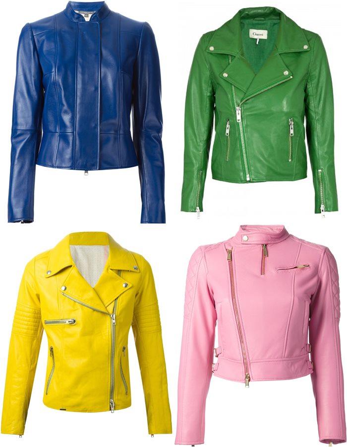 яркие цветные кожаные куртки 2015