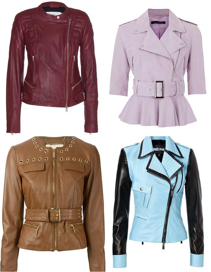Приталенные кожаные куртки 2015