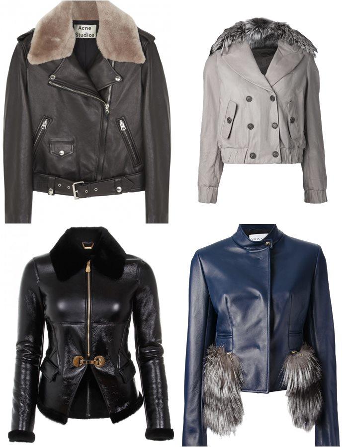 Кожаные куртки с мехом 2015