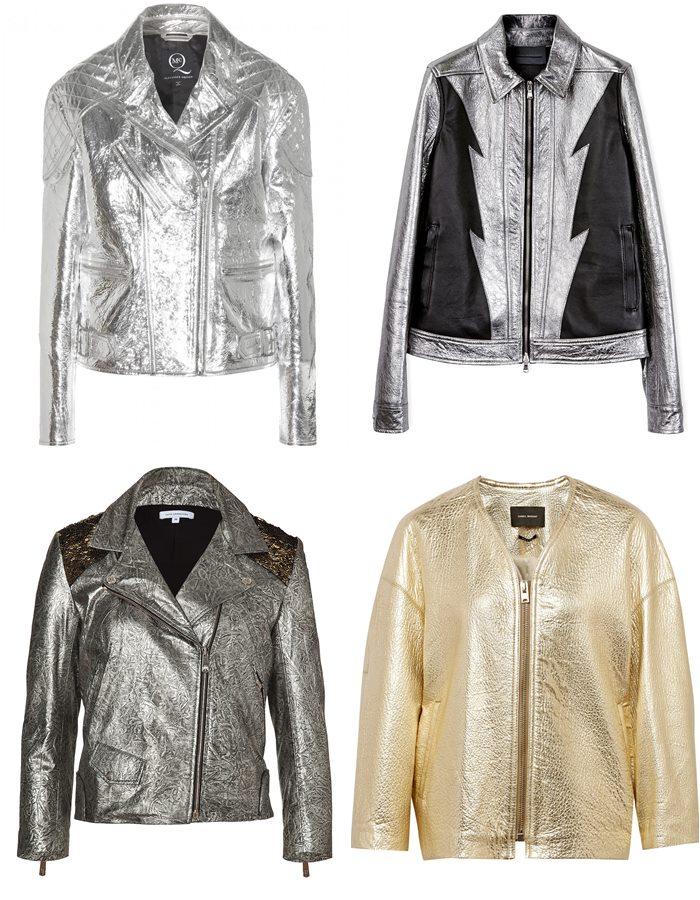 Блестящие кожаные куртки 2015