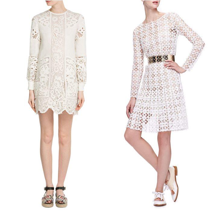 кружевные платья 2015 Valentino и Oscar de la Renta