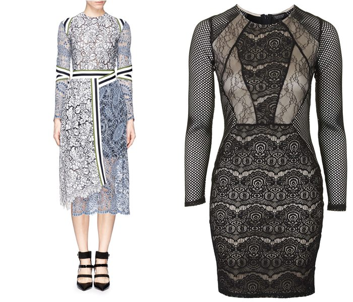кружевные платья 2015 Preen by Thornton Bregazzi и Topshop