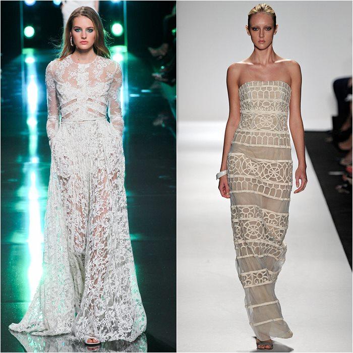кружевные платья 2015 Elie Saab и Dennis Basso