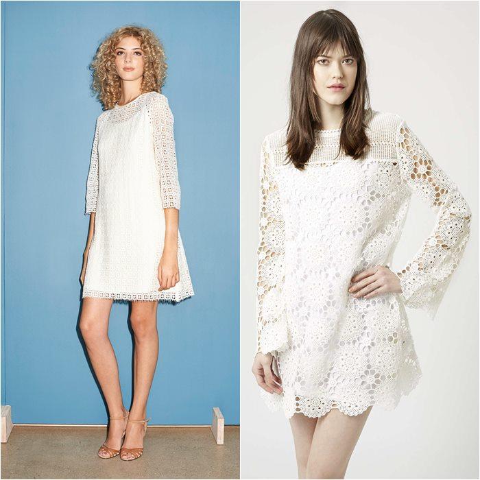 кружевные платья 2015 A.P.C и Topshop