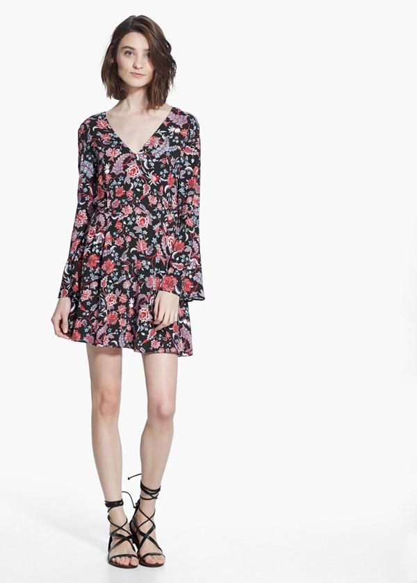 платье с цветочным принтом 2015 Mango