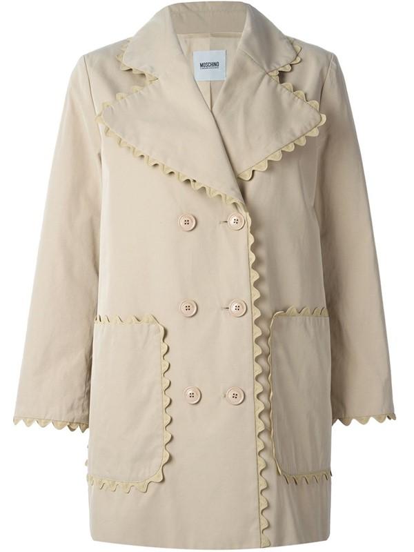 Moschino Cheap and Chic  пальто-бушлат слоновая кость 2015