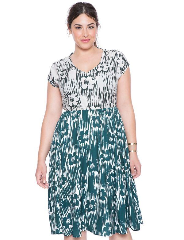 короткое зеленое платье для полных женщин 2015