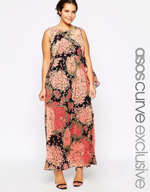 шифоновое длинное платье для полных женщин 2015