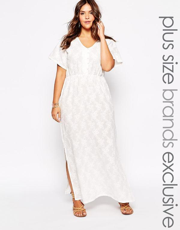 белое кружевное платье для полных женщин 2015