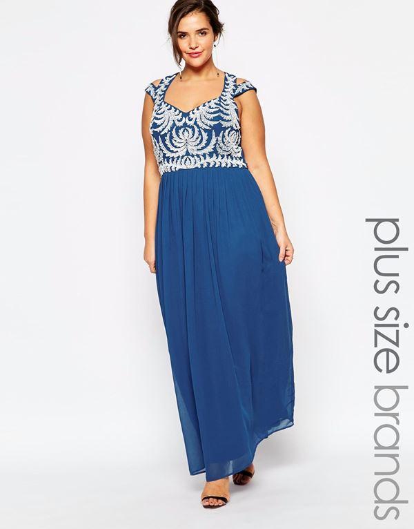 длинное платье без рукавов для полных женщин 2015
