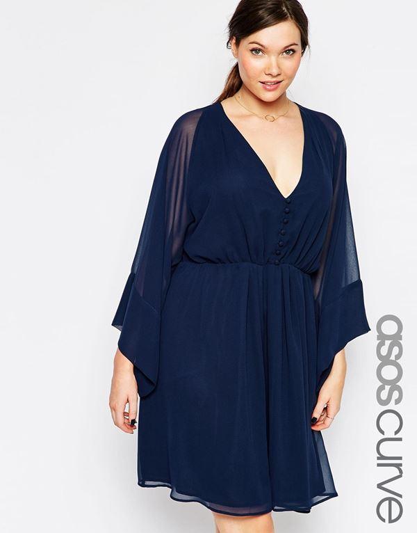короткое платье-туника для полных женщин 2015
