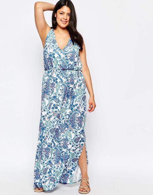 длинное летнее платье для полных женщин 2015
