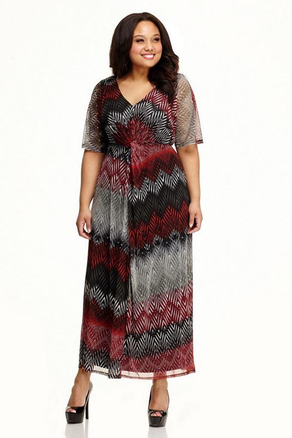 длинное шифоновое платье для полных женщин 2015