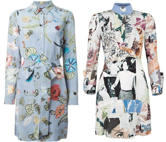 платья-рубашки 2015 Gucci и Carven