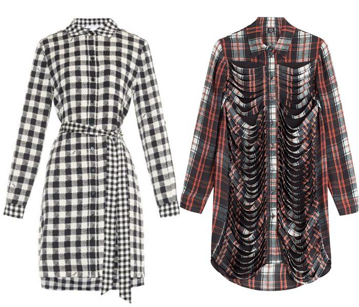 платья-рубашки 2015 Diane von Furstenberg и MCQ Alexander McQueen