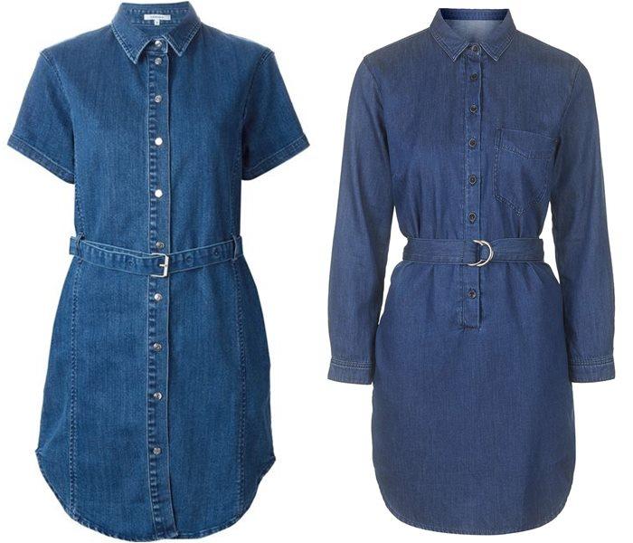 платья-рубашки 2015 Carven и Topshop