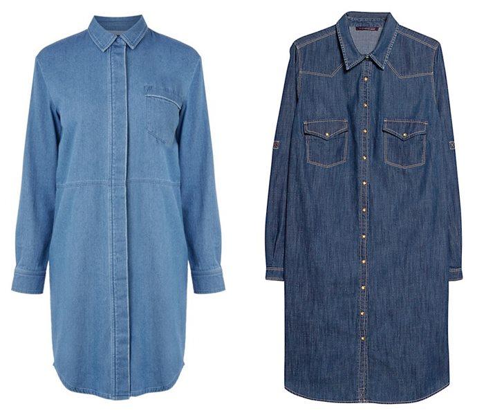 платья-рубашки 2015 Warehouse и Violeta by Mango