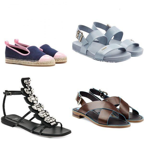 плоские туфли fendi весна лето 2015
