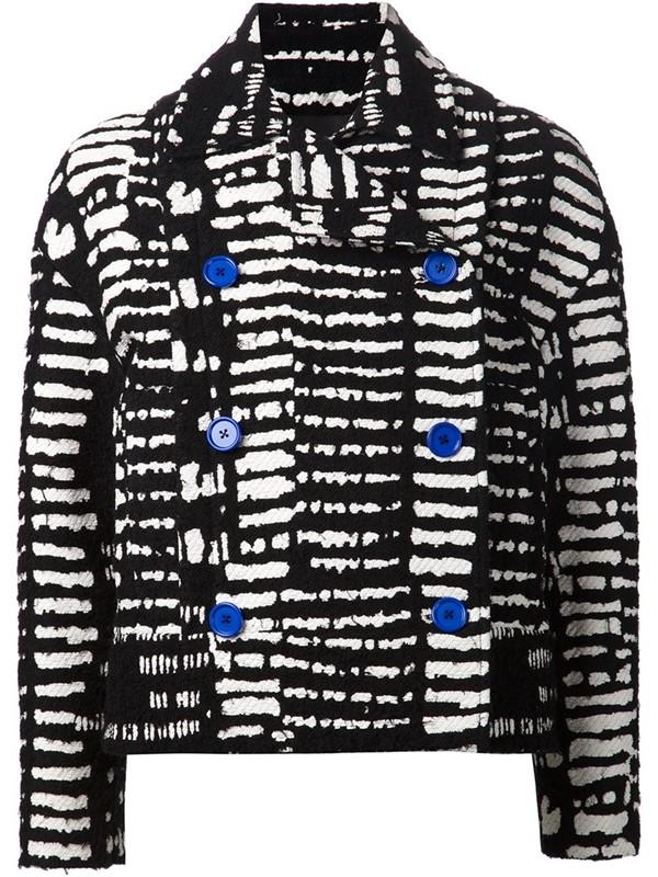 Proenza Schouler короткое черно-белое пальто-бушлат 2015