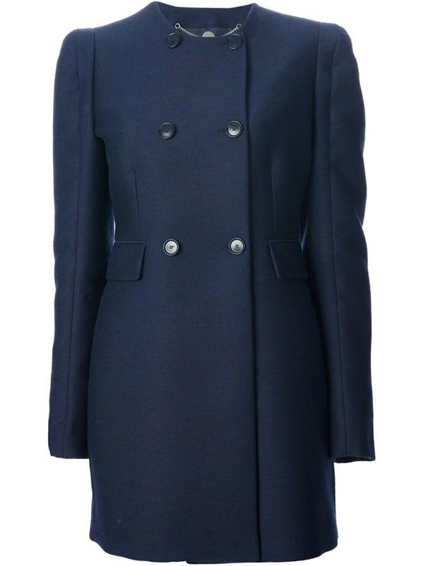 Stella McCartney темно-синее пальто-бушлат 2015