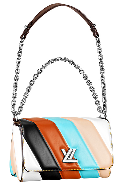 разноцветная сумка louis vuitton twist bag весна лето 2015