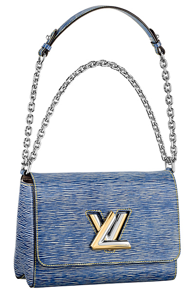 сумка деним louis vuitton twist bag весна лето 2015 (3)