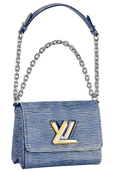 сумка деним louis vuitton twist bag весна лето 2015