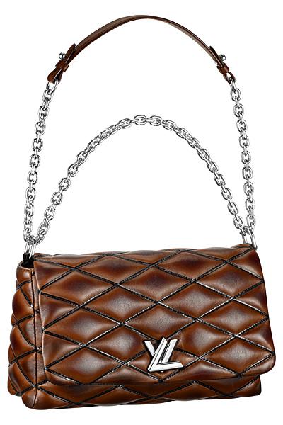 коричневая сумка louis vuitton twist bag весна лето 2015