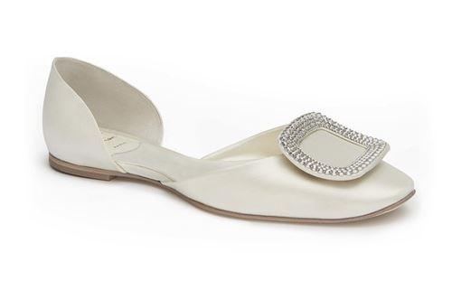 свадебные туфли на плоской подошве roger vivier 2015