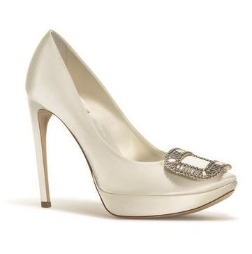 свадебные туфли на каблуке и платформе  roger vivier 2015