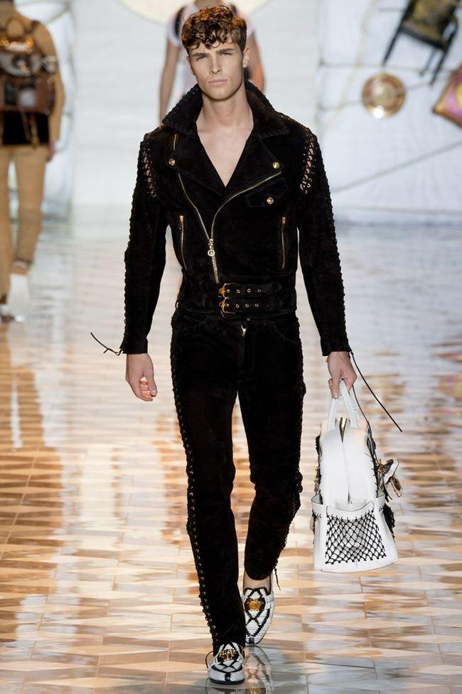 Versace замшевая мужская косуха весна-лето 2015