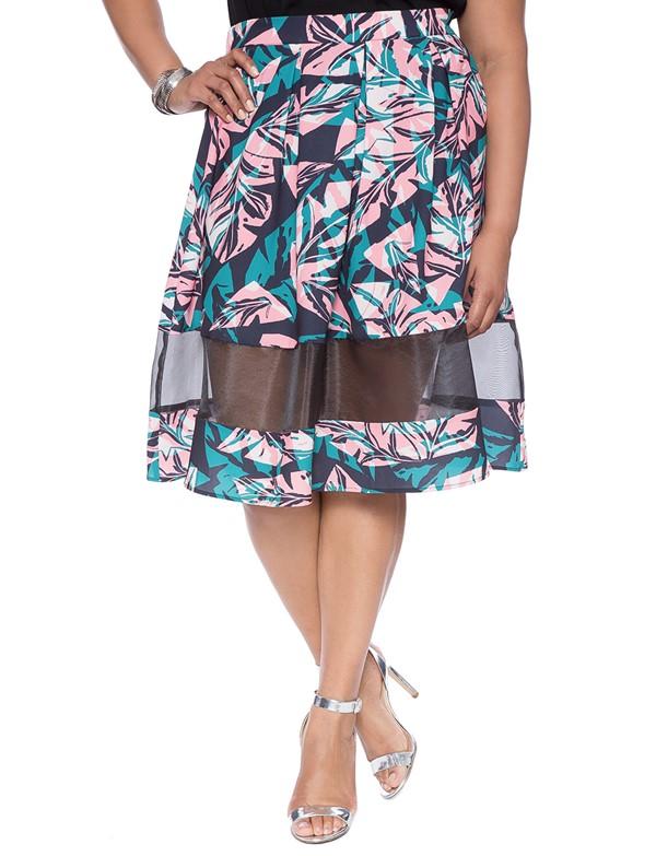 прозрачная цветочная юбка для полных 2015