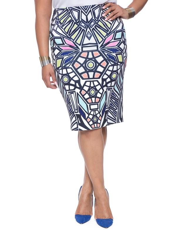 юбка-карандаш с узором для полных 2015