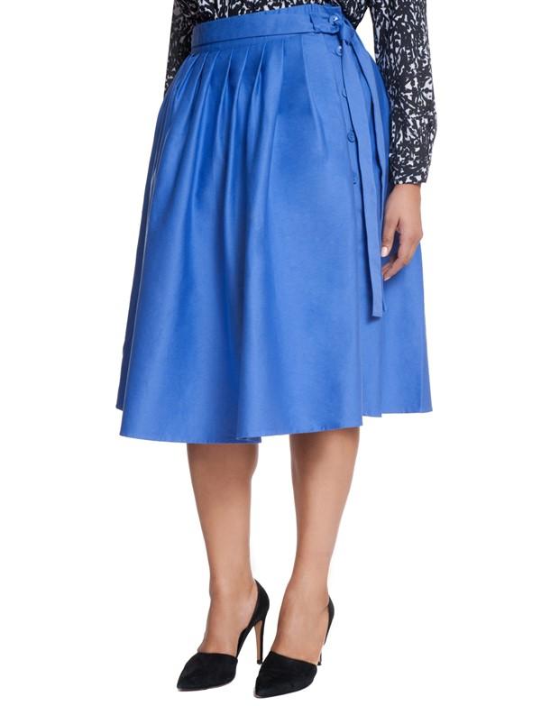 синяя юбка для полных 2015