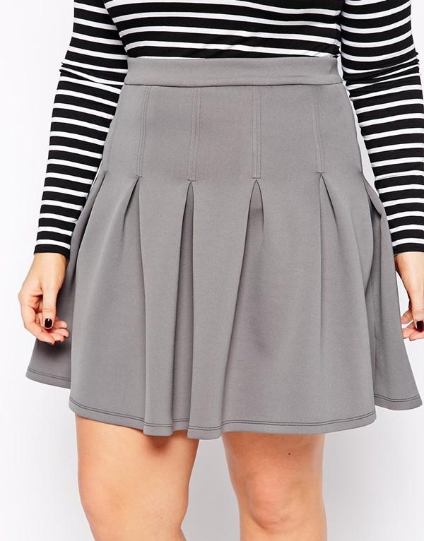 короткая мини-юбка для полных 2015