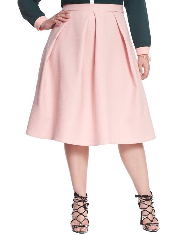 персиковая юбка для полных 2015