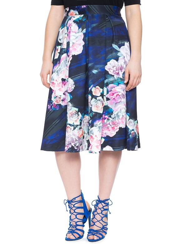 цветочная юбка для полных 2015