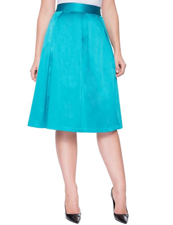 бирюзовая юбка для полных 2015