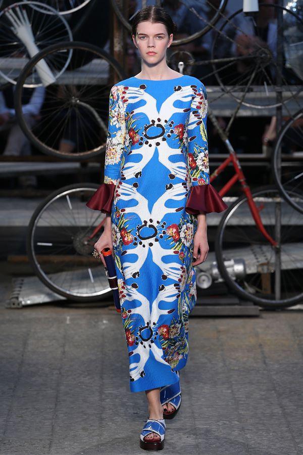 Голубые платья весна-лето 2015 Antonio Marras
