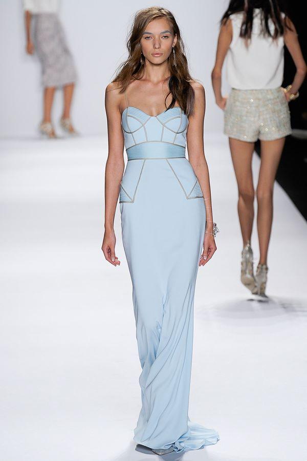 Голубые платья весна-лето 2015 Badgley Mischka