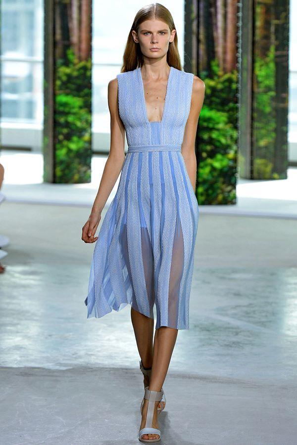 Голубые платья весна-лето 2015 Boss