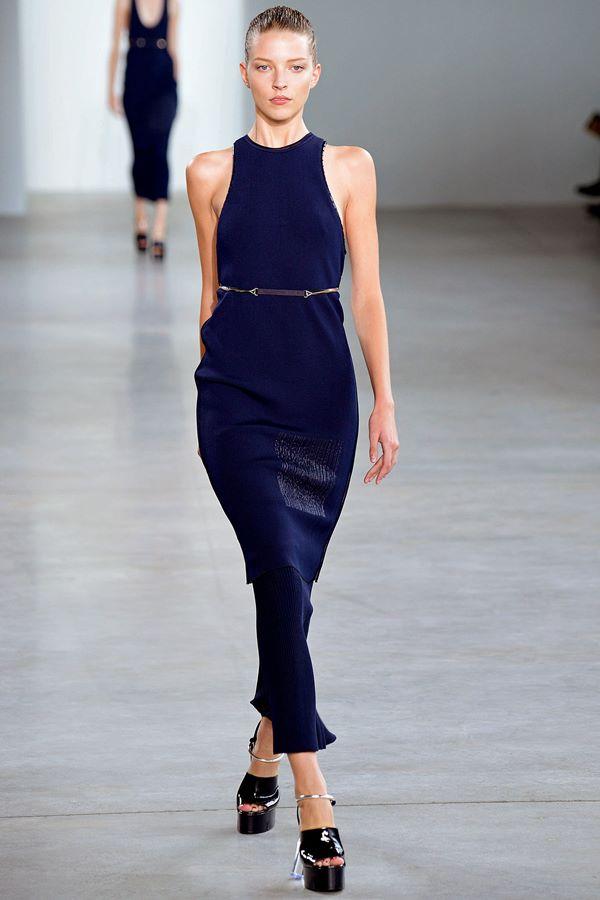 Синие платья весна-лето 2015 Calvin Klein Collection