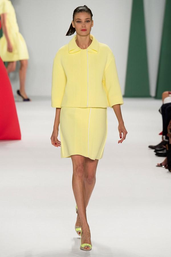 Женские костюмы с юбкой лето 2015 Carolina Herrera