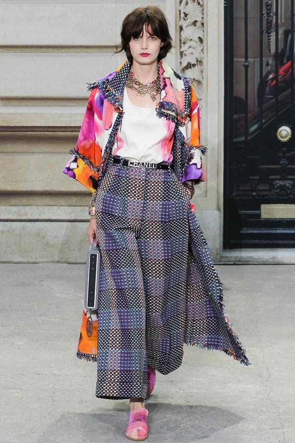Chanel брюки с принтом весна-лето 2015