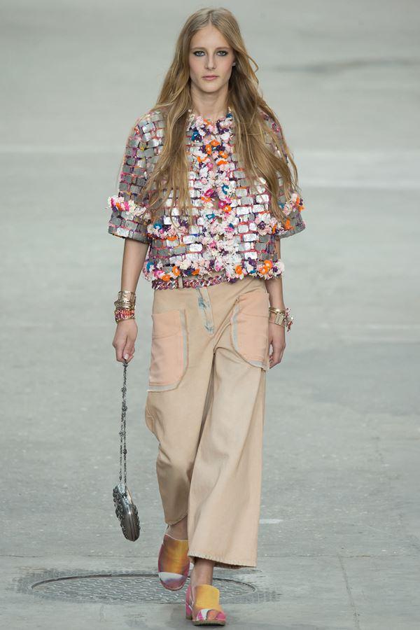 Chanel укороченные брюки весна-лето 2015