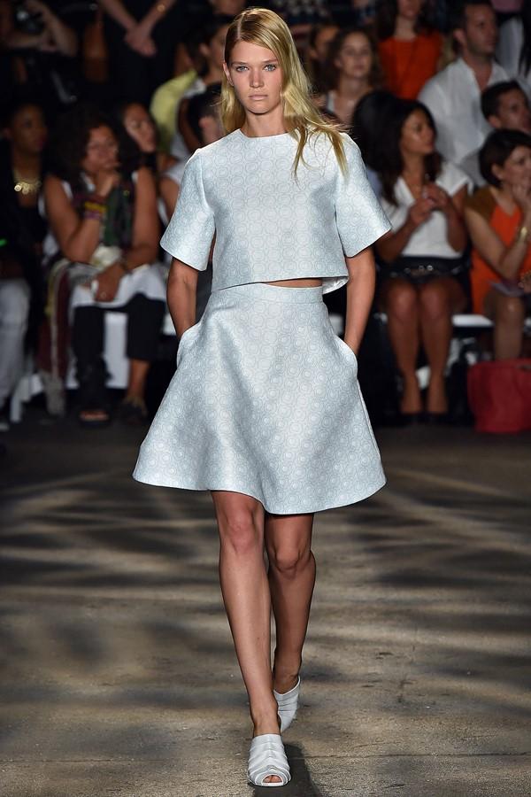 Женские костюмы с юбкой лето 2015 Christian Siriano