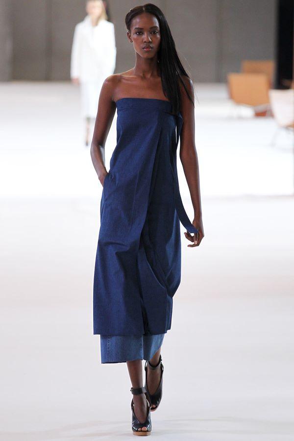 Синие платья весна-лето 2015 Christophe Lemaire
